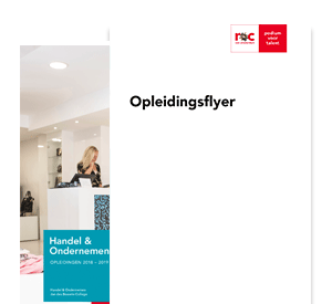 Assistent Manager Internationale Handel opleidingsflyer